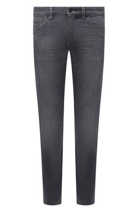 Мужские джинсы BOSS темно-серого цвета, арт. 50453114 | Фото 1 (Длина (брюки, джинсы): Стандартные; Силуэт М (брюки): Прямые; Материал внешний: Хлопок, Деним; Стили: Кэжуэл)