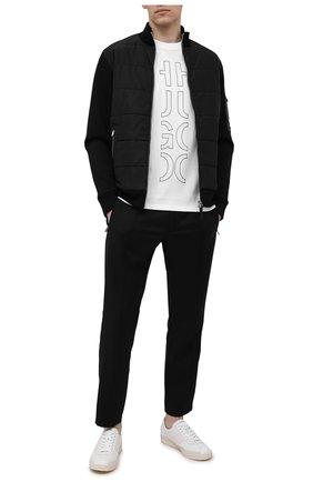 Мужская хлопковая футболка HUGO белого цвета, арт. 50458197 | Фото 2