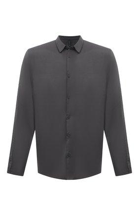 Мужская хлопковая рубашка TRANSIT темно-серого цвета, арт. CFUTRNU300 | Фото 1