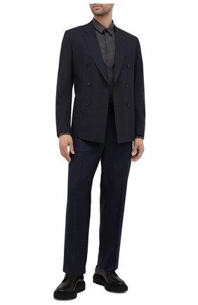 Мужская хлопковая рубашка TRANSIT темно-серого цвета, арт. CFUTRNU300 | Фото 2