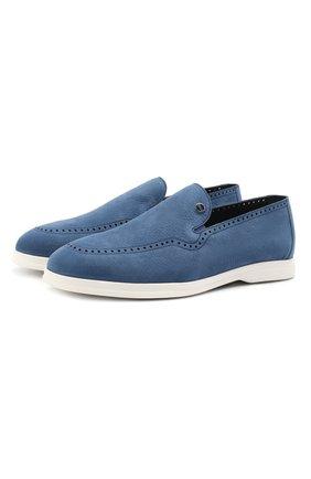 Мужские кожаные лоферы ZILLI синего цвета, арт. MDV-T148/001 | Фото 1