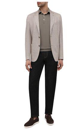 Мужские кожаные лоферы ZILLI коричневого цвета, арт. MDV-T148/003 | Фото 2