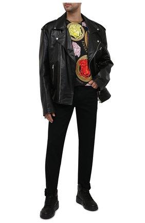 Мужские кожаные кеды talon GIUSEPPE ZANOTTI DESIGN черного цвета, арт. RM10007/002 | Фото 2