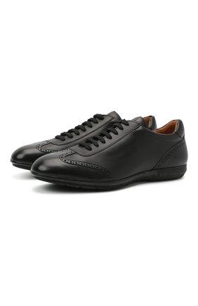 Мужские кожаные кроссовки MORESCHI черного цвета, арт. 90042323S0001/P0RT0 | Фото 1