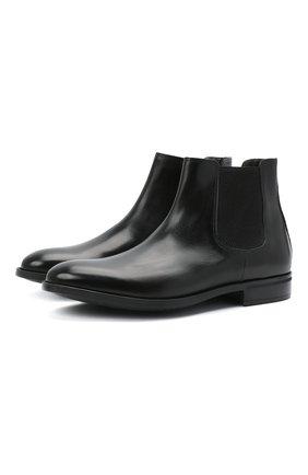 Мужские кожаные челси MORESCHI черного цвета, арт. 90042364P0001/CHELSEA | Фото 1