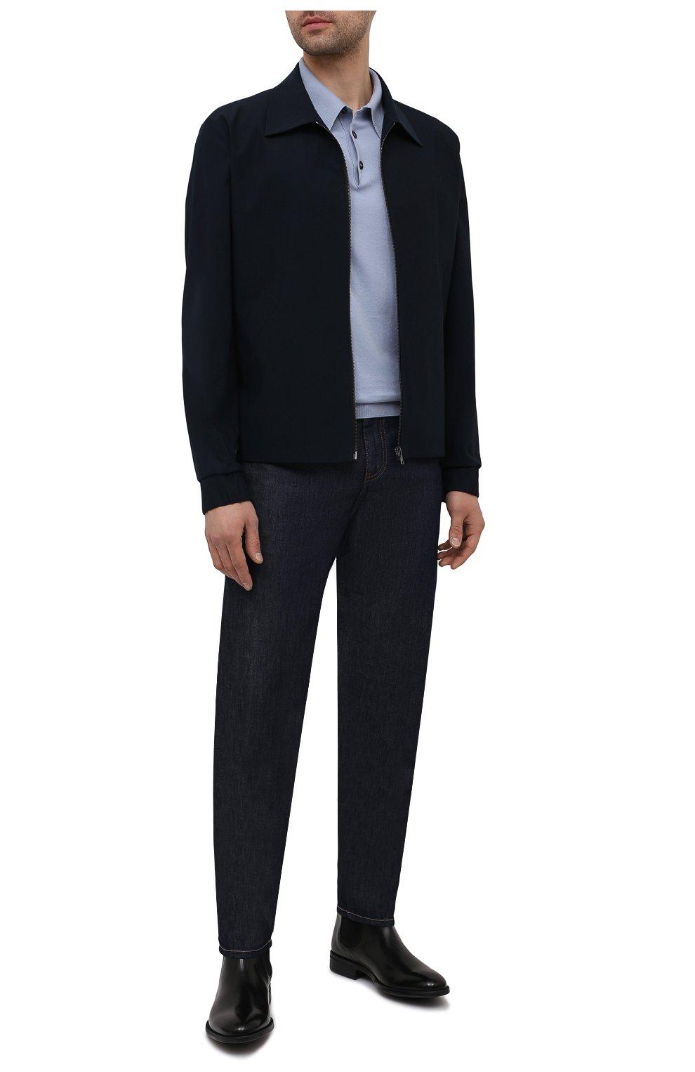 Мужские кожаные челси MORESCHI черного цвета, арт. 90042364P0001/CHELSEA | Фото 2 (Материал внутренний: Натуральная кожа; Подошва: Плоская; Мужское Кросс-КТ: Сапоги-обувь, Челси-обувь)