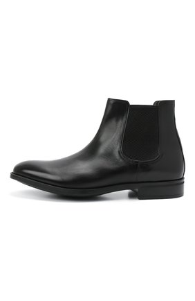 Мужские кожаные челси MORESCHI черного цвета, арт. 90042364P0001/CHELSEA | Фото 3 (Материал внутренний: Натуральная кожа; Подошва: Плоская; Мужское Кросс-КТ: Сапоги-обувь, Челси-обувь)