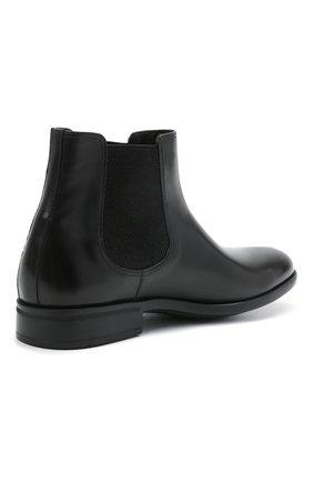 Мужские кожаные челси MORESCHI черного цвета, арт. 90042364P0001/CHELSEA | Фото 4 (Материал внутренний: Натуральная кожа; Подошва: Плоская; Мужское Кросс-КТ: Сапоги-обувь, Челси-обувь)