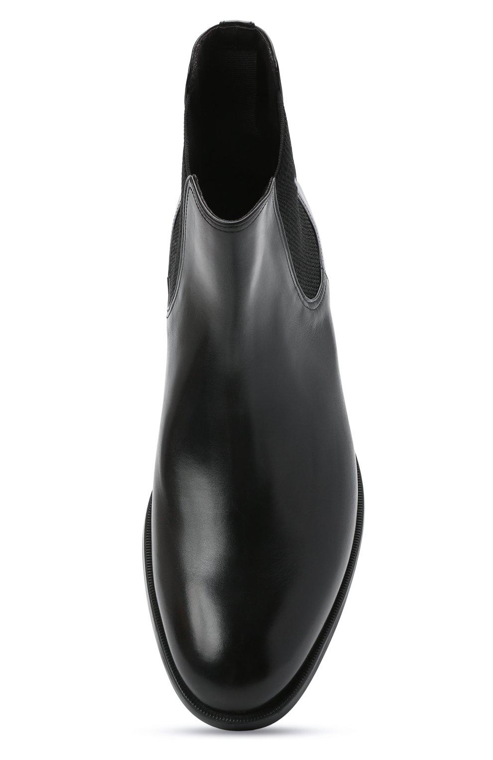 Мужские кожаные челси MORESCHI черного цвета, арт. 90042364P0001/CHELSEA | Фото 5 (Материал внутренний: Натуральная кожа; Подошва: Плоская; Мужское Кросс-КТ: Сапоги-обувь, Челси-обувь)