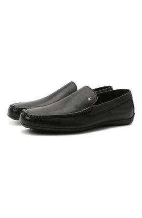 Мужские кожаные мокасины MORESCHI черного цвета, арт. 43711/MY/GI0VE | Фото 1