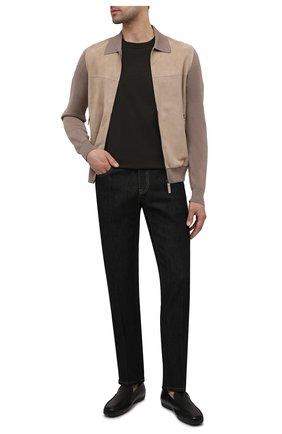 Мужские кожаные мокасины MORESCHI черного цвета, арт. 43711/MY/GI0VE | Фото 2
