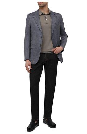 Мужские кожаные мокасины MORESCHI темно-синего цвета, арт. 43711/MY/GI0VE | Фото 2