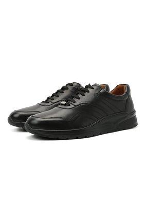 Мужские кожаные кроссовки MORESCHI черного цвета, арт. 43732/BL/PR0CIDA/F.ESTATE | Фото 1
