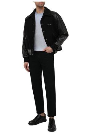 Мужские кожаные кроссовки MORESCHI черного цвета, арт. 43732/BL/PR0CIDA/F.ESTATE | Фото 2