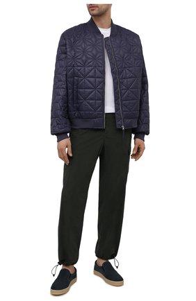 Мужские кожаные слипоны MORESCHI синего цвета, арт. 43852/CQ/PR0V.F0R+PR0VENZA/F.NAPPA | Фото 2