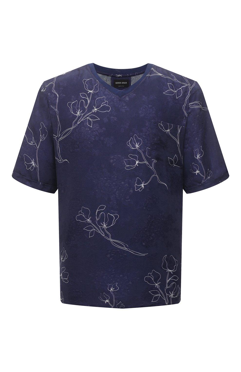 Мужская футболка GIORGIO ARMANI темно-синего цвета, арт. 1SGCCZ59/TZ925   Фото 1