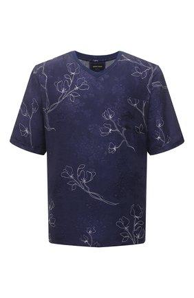 Мужская футболка GIORGIO ARMANI темно-синего цвета, арт. 1SGCCZ59/TZ925 | Фото 1