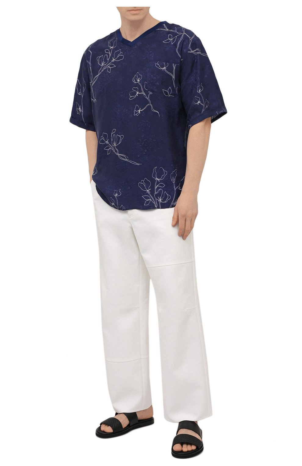 Мужская футболка GIORGIO ARMANI темно-синего цвета, арт. 1SGCCZ59/TZ925   Фото 2