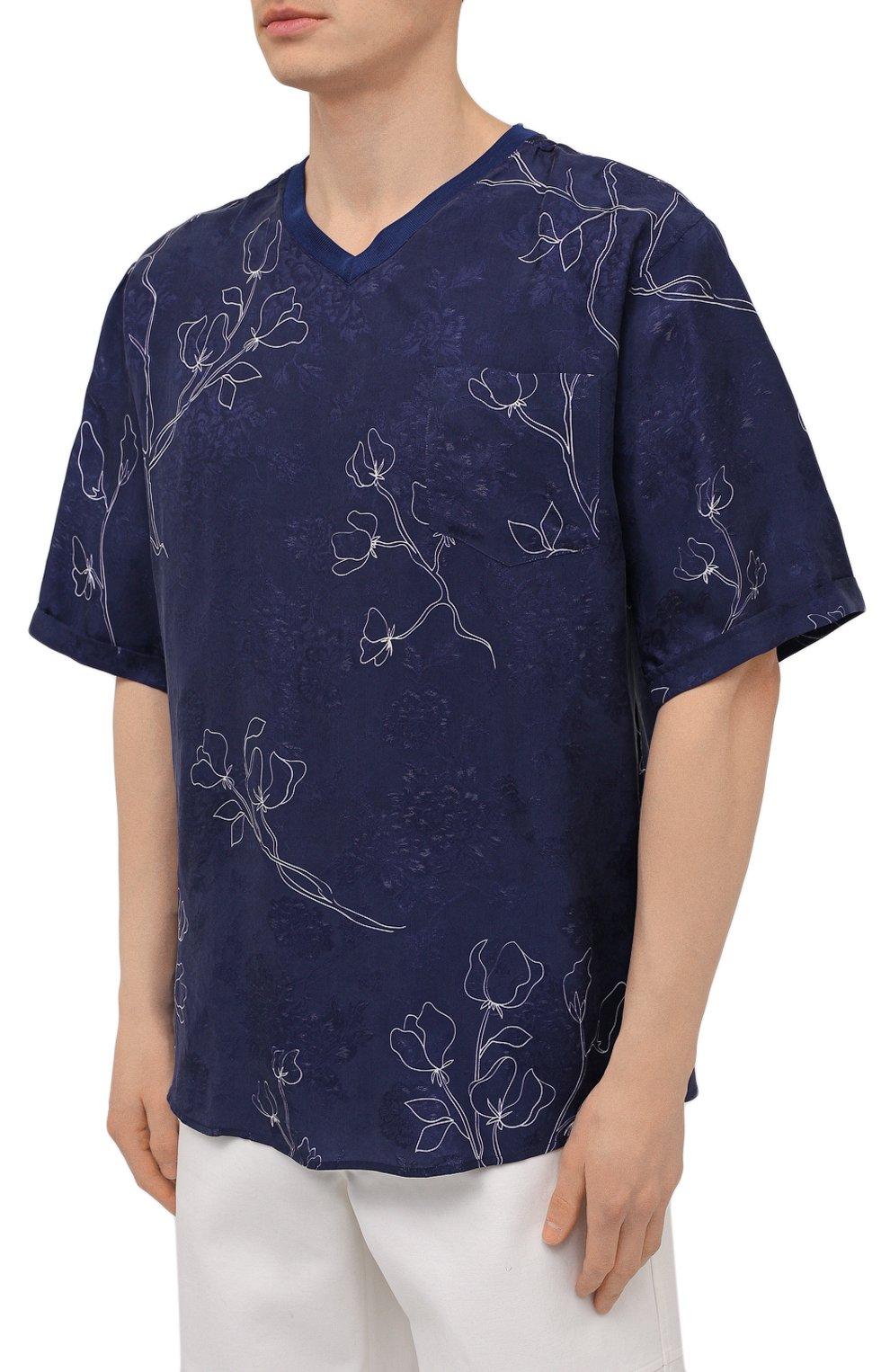 Мужская футболка GIORGIO ARMANI темно-синего цвета, арт. 1SGCCZ59/TZ925   Фото 3