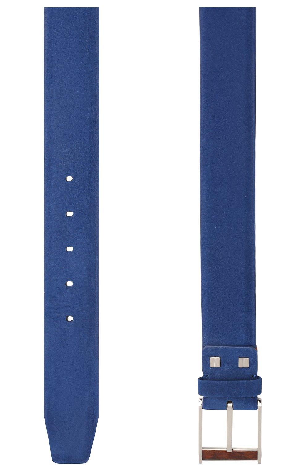 Мужской кожаный ремень ZILLI синего цвета, арт. MJL-CLAQE-01980/0057 | Фото 2 (Случай: Повседневный)