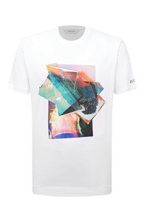 Мужская хлопковая футболка Z ZEGNA белого цвета, арт. VW367/ZZ649S   Фото 1