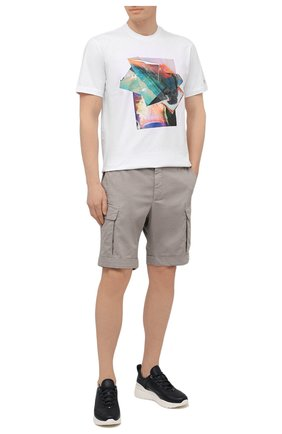 Мужская хлопковая футболка Z ZEGNA белого цвета, арт. VW367/ZZ649S   Фото 2