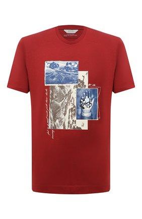 Мужская хлопковая футболка Z ZEGNA красного цвета, арт. VW364/ZZ649Q | Фото 1 (Принт: С принтом; Материал внешний: Хлопок; Рукава: Короткие; Стили: Кэжуэл; Длина (для топов): Стандартные)