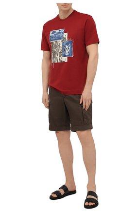 Мужская хлопковая футболка Z ZEGNA красного цвета, арт. VW364/ZZ649Q | Фото 2 (Принт: С принтом; Материал внешний: Хлопок; Рукава: Короткие; Стили: Кэжуэл; Длина (для топов): Стандартные)