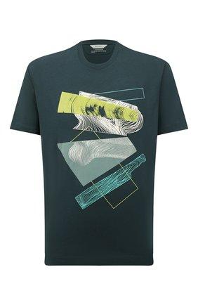 Мужская хлопковая футболка Z ZEGNA зеленого цвета, арт. VW364/ZZ649D | Фото 1