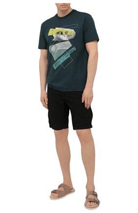 Мужская хлопковая футболка Z ZEGNA зеленого цвета, арт. VW364/ZZ649D | Фото 2