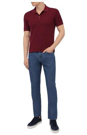 Мужские джинсы ERMENEGILDO ZEGNA синего цвета, арт. UWI91/JS01 | Фото 2 (Кросс-КТ: Деним; Силуэт М (брюки): Прямые; Длина (брюки, джинсы): Стандартные; Стили: Кэжуэл; Материал внешний: Хлопок)