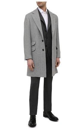 Мужской костюм из шерсти и кашемира BRUNELLO CUCINELLI темно-серого цвета, арт. MN466LDWH | Фото 1