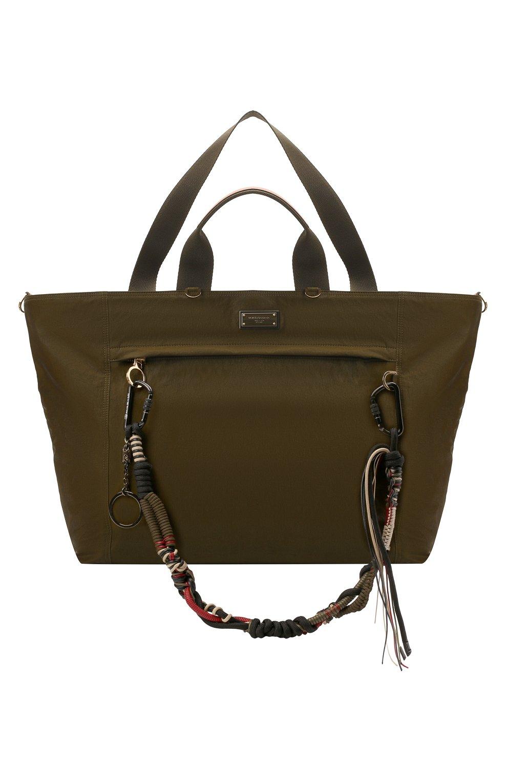 Мужская дорожная сумка nero sicilia dna DOLCE & GABBANA хаки цвета, арт. BM1958/A0244 | Фото 1