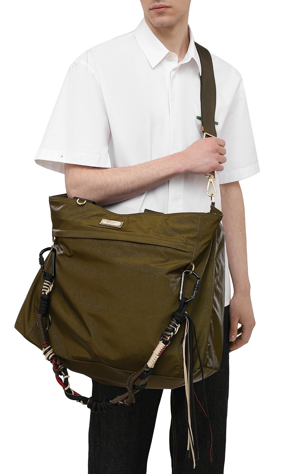 Мужская дорожная сумка nero sicilia dna DOLCE & GABBANA хаки цвета, арт. BM1958/A0244 | Фото 5