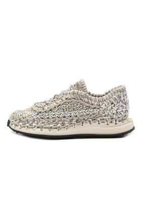 Мужские текстильные кроссовки crochet VALENTINO серого цвета, арт. VY0S0E41/ZXB | Фото 2