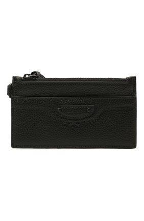 Мужской кожаный футляр для кредитных карт BALENCIAGA черного цвета, арт. 655246/15Y07 | Фото 1