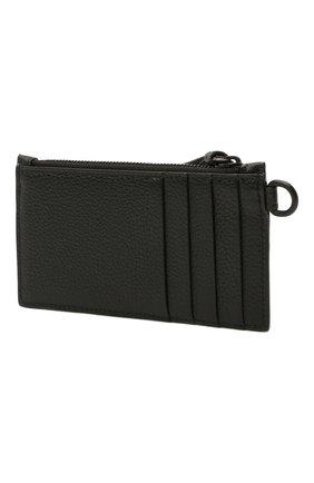 Мужской кожаный футляр для кредитных карт BALENCIAGA черного цвета, арт. 655246/15Y07 | Фото 2