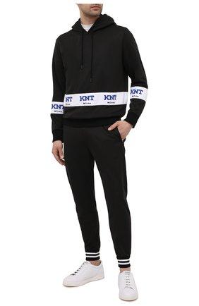 Мужской спортивный костюм KNT темно-синего цвета, арт. UMM0160 | Фото 1 (Кросс-КТ: Спорт; Материал внешний: Синтетический материал; Рукава: Длинные)