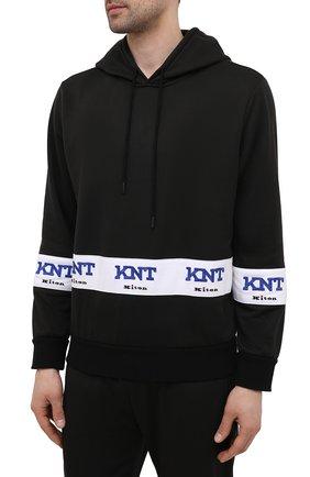 Мужской спортивный костюм KNT темно-синего цвета, арт. UMM0160 | Фото 2 (Кросс-КТ: Спорт; Материал внешний: Синтетический материал; Рукава: Длинные)