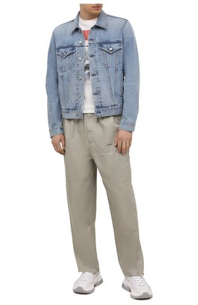Мужская джинсовая куртка CITIZENS OF HUMANITY голубого цвета, арт. M530B-1254 | Фото 2