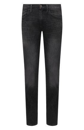 Мужские джинсы POLO RALPH LAUREN темно-серого цвета, арт. 710809302 | Фото 1 (Стили: Кэжуэл; Материал внешний: Хлопок, Деним; Силуэт М (брюки): Прямые; Длина (брюки, джинсы): Стандартные)
