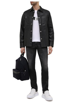 Мужские джинсы POLO RALPH LAUREN темно-серого цвета, арт. 710809302 | Фото 2 (Стили: Кэжуэл; Материал внешний: Хлопок, Деним; Силуэт М (брюки): Прямые; Длина (брюки, джинсы): Стандартные)