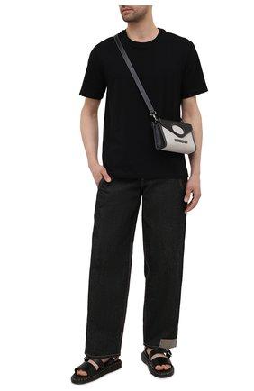 Мужские кожаные сандалии rick owens x dr. martens RICK OWENS черного цвета, арт. DM21S6806/1001   Фото 2