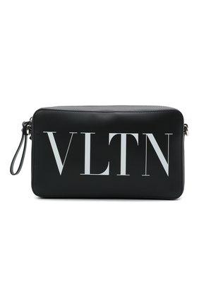 Мужская кожаная сумка VALENTINO черного цвета, арт. WY2B0704/WJW   Фото 1
