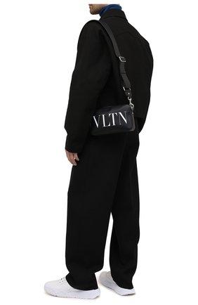 Мужская кожаная сумка VALENTINO черного цвета, арт. WY2B0704/WJW   Фото 2