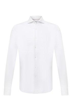 Мужская хлопковая рубашка LORO PIANA белого цвета, арт. FAL6123 | Фото 1