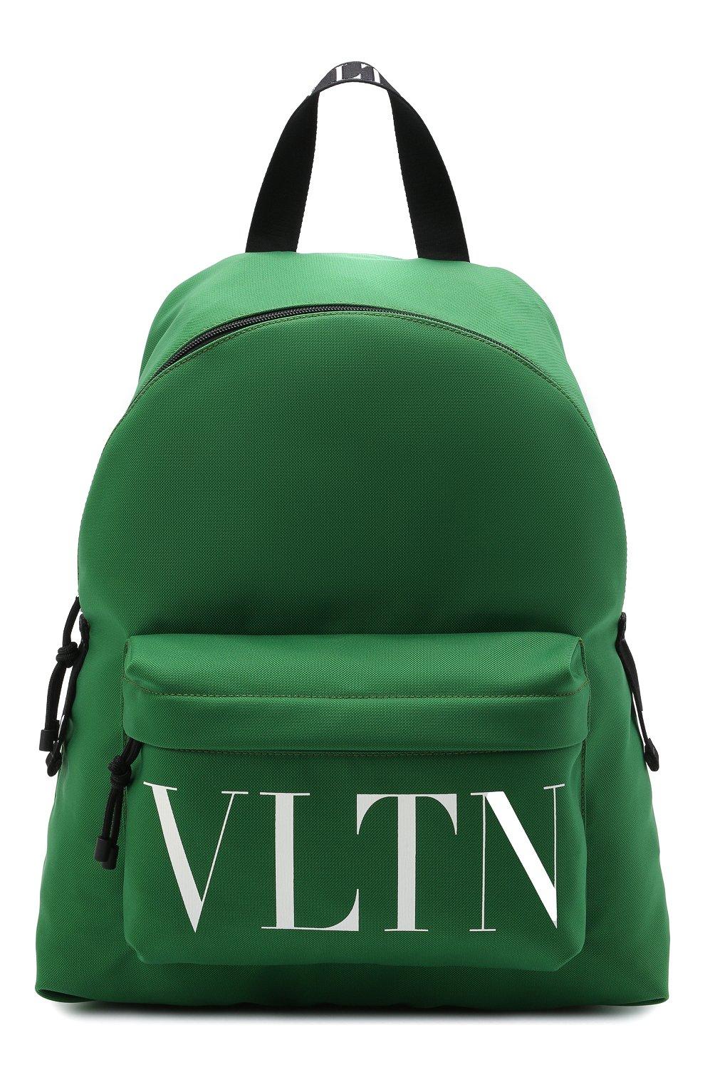 Мужской текстильный рюкзак VALENTINO зеленого цвета, арт. WY2B0993/YHS   Фото 1