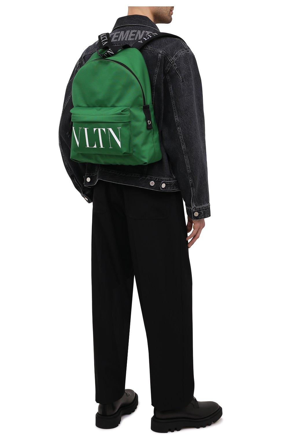 Мужской текстильный рюкзак VALENTINO зеленого цвета, арт. WY2B0993/YHS   Фото 2