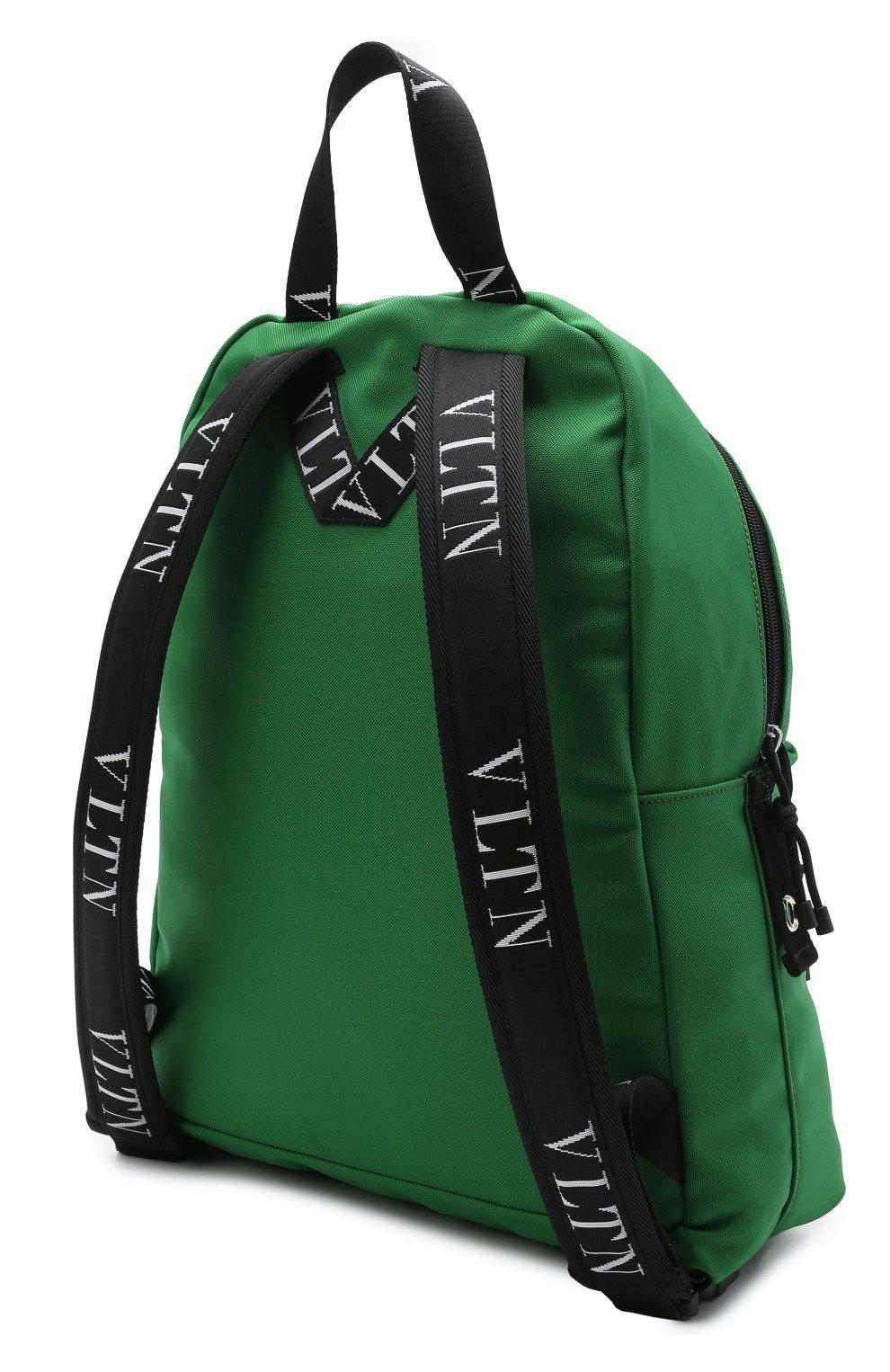 Мужской текстильный рюкзак VALENTINO зеленого цвета, арт. WY2B0993/YHS   Фото 3