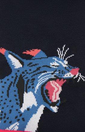 Мужские хлопковые носки STORY LORIS темно-синего цвета, арт. 5447 | Фото 2 (Материал внешний: Хлопок; Кросс-КТ: бельё)